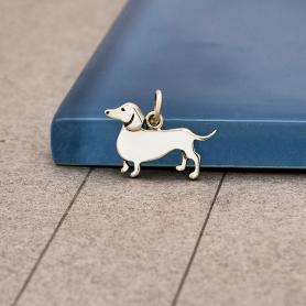 Sterling Silver Dachshund Dog Charm