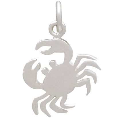 Sterling Silver Flat Crab Charm 18x12mm