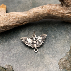 Sterling Silver Butterfly Moth Link 18x20mm
