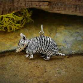 Sterling Silver Armadillo Charm 18x26mm