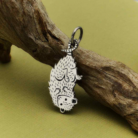 Sterling Silver Possum Charm 27x11mm