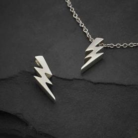 Sterling Silver Lightning Bolt Bead 16x6mm