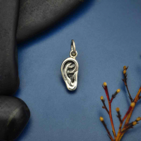 Sterling Silver Ear Charm 16x6mm