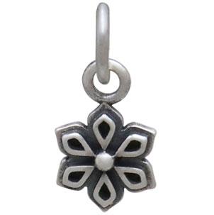 Sterling Silver Tiny Mandala Charm 13x6mm