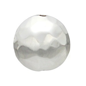 Sterling Silver Bead - Round Hammered Bead 8x8mm