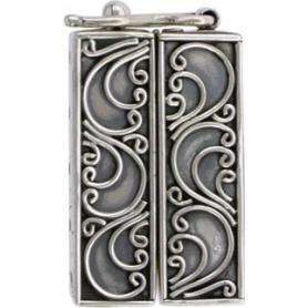 Sterling Silver Box Clasp - Five Strand with Scrollwork