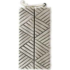 Silver Box Clasp -Seven Strand with Cross Hatch DISCONTINUED