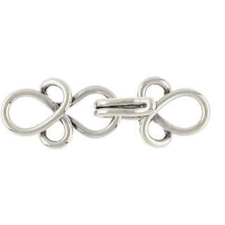 Sterling Silver Hook and Eye Clasp -Small 25x10mm