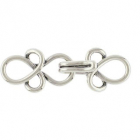 Sterling Silver Hook and Eye Clasp -Small