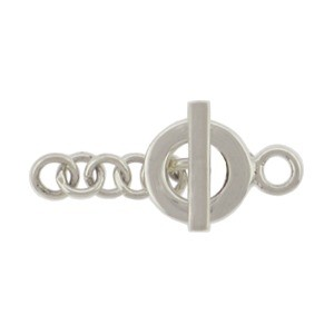 Sterling Silve Toggle Clasp - Square Wire Bar Small