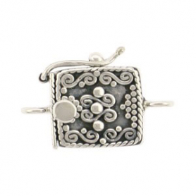Sterling Silver Box Clasp - One Stand with Scrollwork
