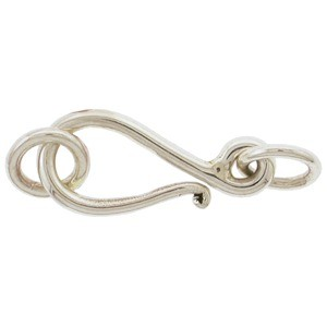Sterling Silver Simple Hook and Eye Clasp - Medium 25x8mm