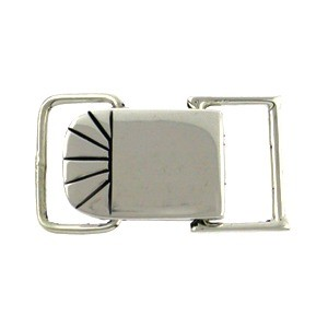 Sterling Silver Square Snap Clasp 18x12mm