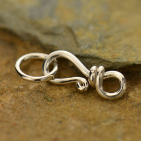Sterling Silver Tiny Simple Hook & Eye Clasp