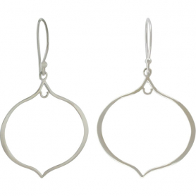 Sterling Silver Arabesque Shape Earring Findings -47mm
