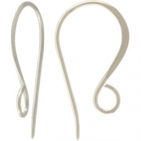 Sterling Silver Ear Wire - Large Simple Flat