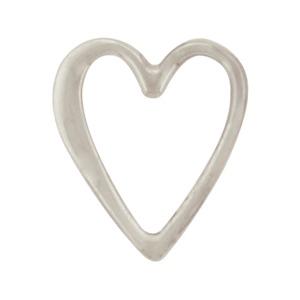 Silver Stud Earrings - Openwork Heart Post Earring 9x8mm