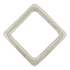 Silver Stud Earrings - Openwork Square Post Earring 11x11mm