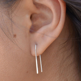 Sterling Silver Ear Wires - Arc Earring