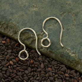 Sterling Silver French Hook Earring with Large Loop