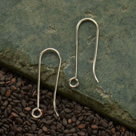 Sterling Silver Long French Hook Earring with Large Loop
