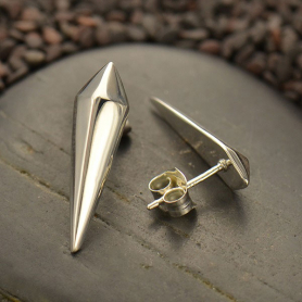 Sterling Silver Stud Earrings - Spike