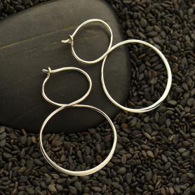 Sterling Silver Hoop Earrings - Infinity Hoops