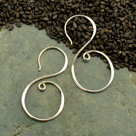Large Sterling Silver Earring Hook in