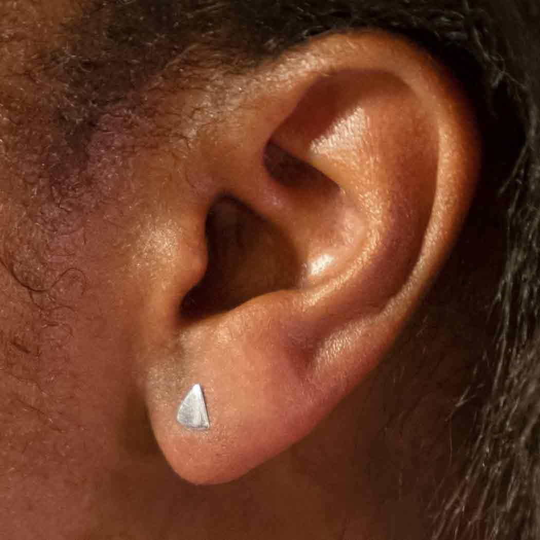 Sterling Silver Triangle Stud Earrings 5x5mm