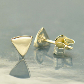 Geometric Jewelry - Sterling Silver Triangle Stud Earrings