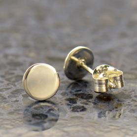 Sterling Silver Dot Stud Earrings 6x6mm