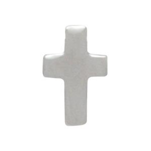Sterling Silver Cross Post Earrings 8x5mm