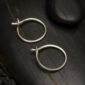 Sterling Silver Circle Hoop Earrings 11x11mm