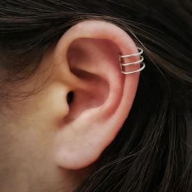 Sterling Silver Small Triple Ear Cuffs -9mm