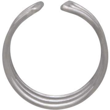 Sterling Silver Large Triple Ear Cuffs -15mm
