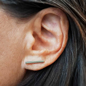 Sterling Silver Bar Ear Climber 2x18mm