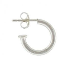 Sterling Silver Hoop Earrings - Simple on Post