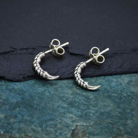 Sterling Silver Bird Claw Post Earring 12x3mm
