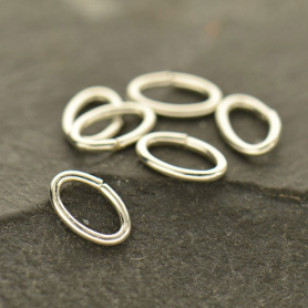 Sterling Silver Jump Rings - 6mm Oval