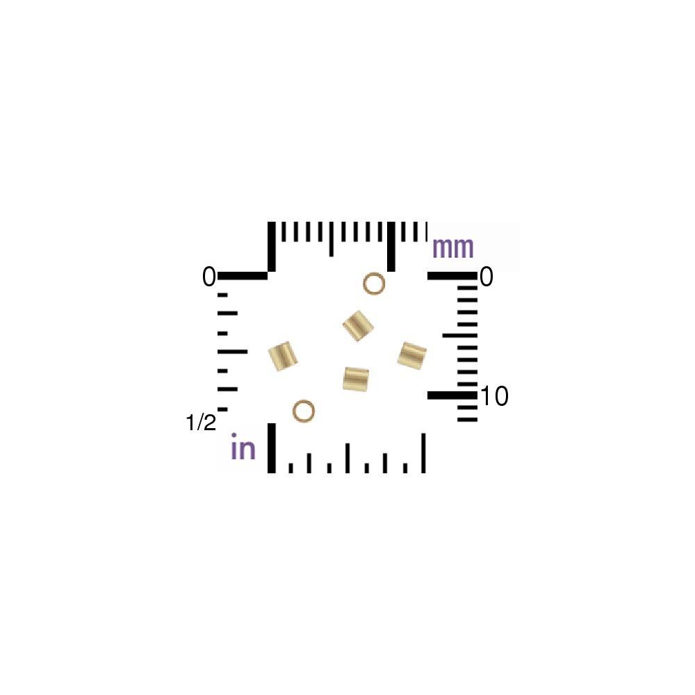 14K Gold Fill Crimp Beads - 2x2mm