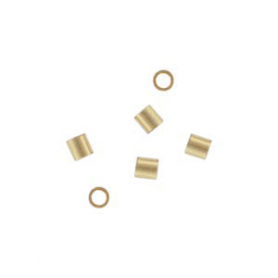 14K Gold Fill Crimp Beads - 2x2mm