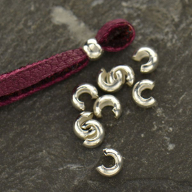 Sterling Silver Crimp Covers - 3mm