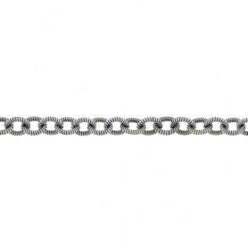 Silver Chain by the Foot - Medium Twisted Oval DISCONTINUED