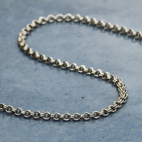 Sterling Silver Chain by the Foot - Double Round Cable Chain