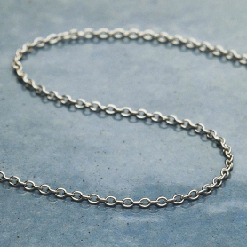 Sterling Silver Chain by the Foot - Smooth Oval Cable Chain