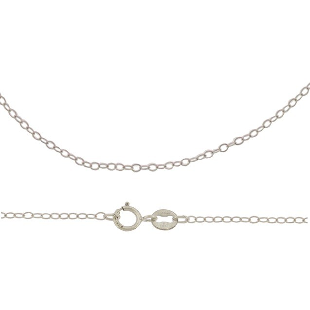 Sterling Silver Finished Chain -16 inch Delicate Cable Chain