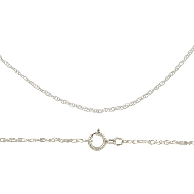 Sterling Silver Finished Chain - 16 inch Rope Chain