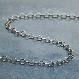 Sterling Silver Chain by the Foot - Delicate Cable Chain