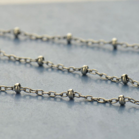 Sterling Silver Chain by the Foot - Station Chain