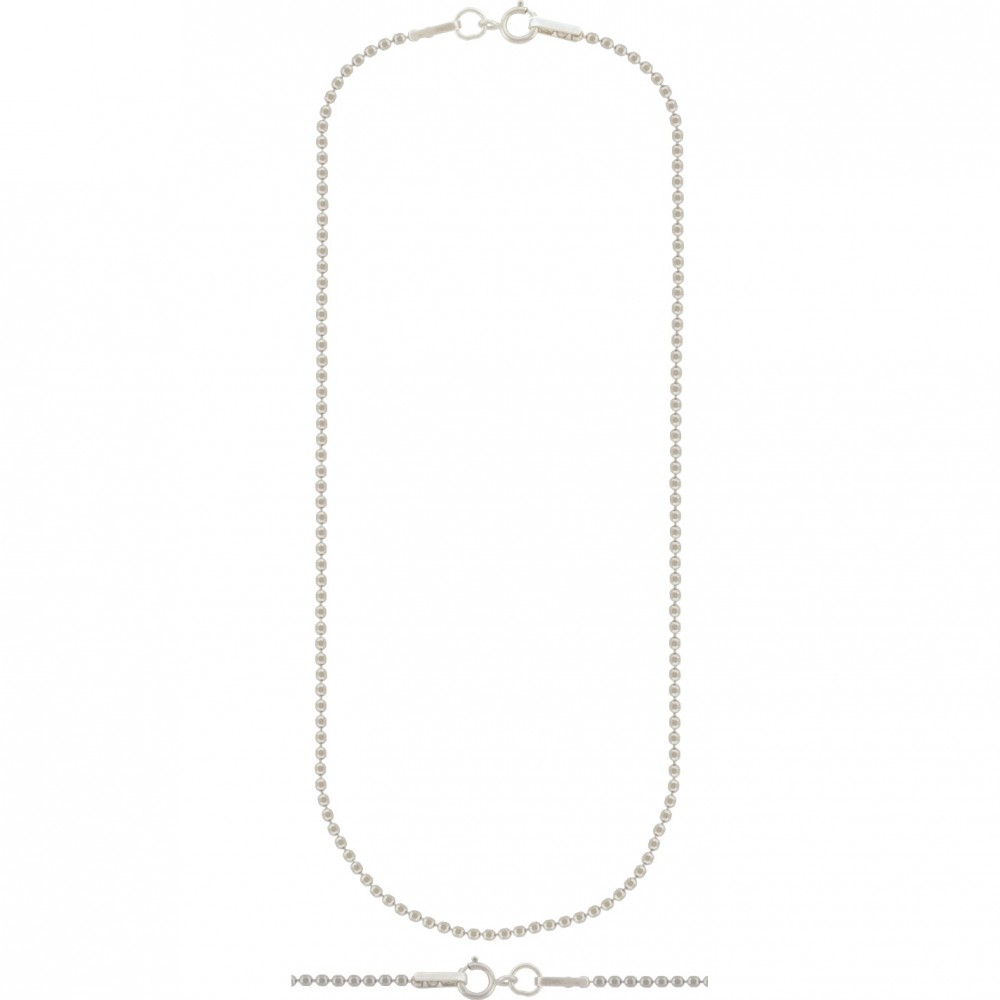 Sterling Silver 16 Inch Chain - Faceted Ball Chain